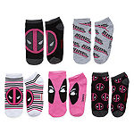 Marvel 5 Pair No Show Socks Womens