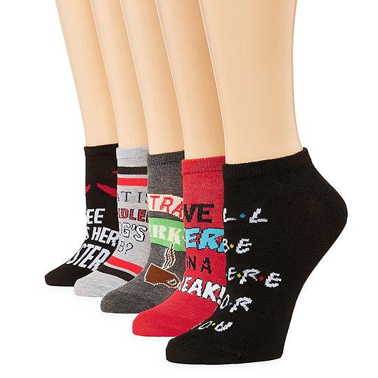 Warner Bros 5 Pair No Show Socks - Womens