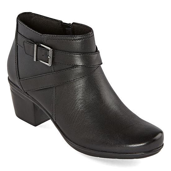 Clarks Womens Emslie Cyndi Booties Block Heel