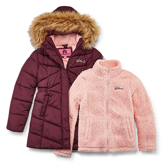 Weatherproof Girls Hooded Heavyweight 3-In-1 System Jacket-Big Kid