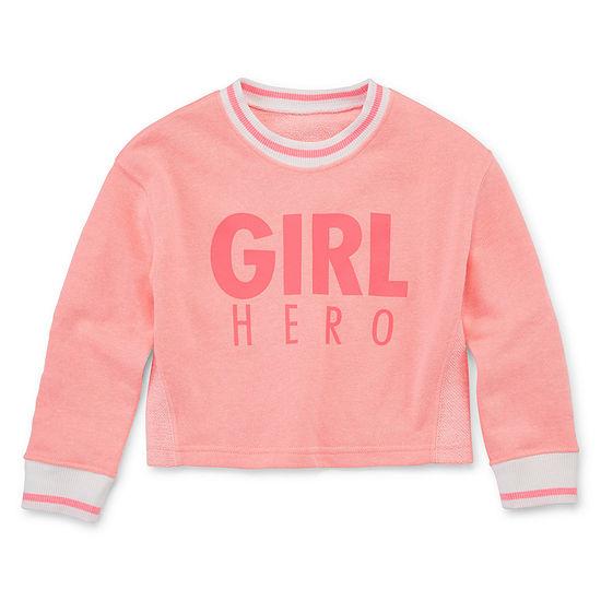 Xersion Girls Round Neck Long Sleeve Reversible Sweatshirt - Toddler