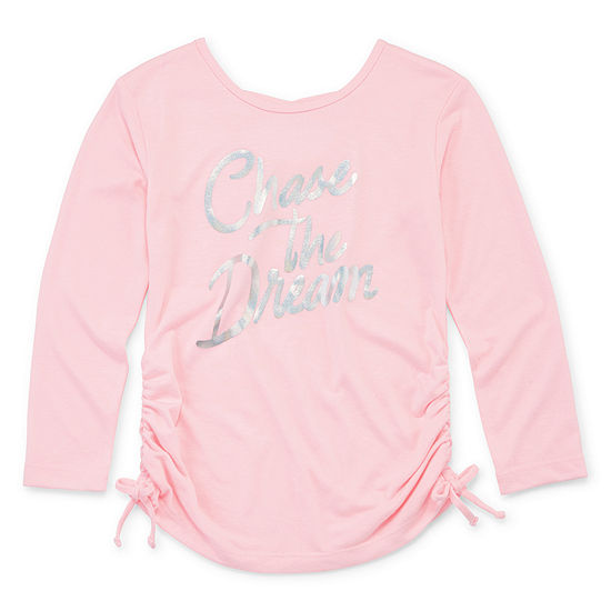 Xersion Toddler Girls Round Neck Long Sleeve Graphic T-Shirt