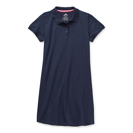Thereabouts Pique Polo Little & Big Girls Short Sleeve T-Shirt Dress