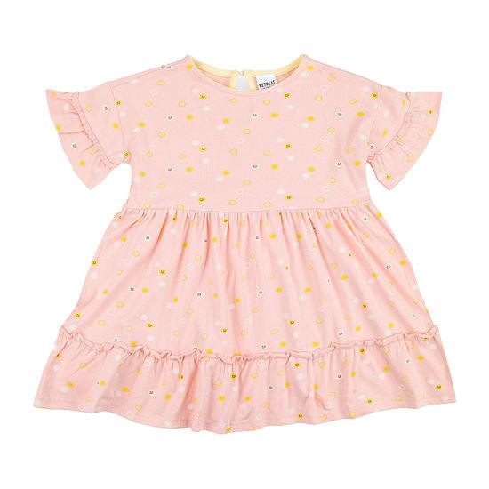 Retreat Los Angeles Polka Dot Toddler And Little & Big Girls Short Sleeve A-Line Dress