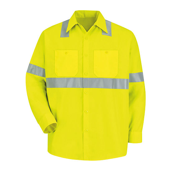Red Kap® Long-Sleeve High-Visibility Shirt - Big & Tall