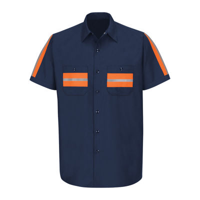 Red Kap® Short-Sleeve Visibility Industrial Work Shirt - Big & Tall