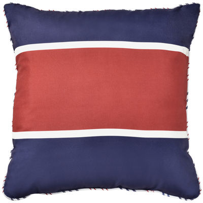 Rugby Stripe Square Decorative Pillow