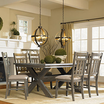 Haverford 7 Pc Dining Set Color Gray Jcpenney
