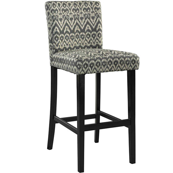 Leona Upholstered Barstool with Back