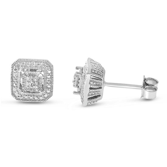 Diamond Accent Genuine White Diamond Sterling Silver Stud Earrings
