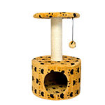 Iconic Pet Cat Print Scratching Condo