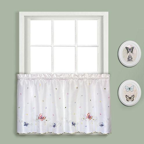 United Curtain Co. Butterfly Rod-Pocket Window Tiers