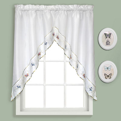 United Curtain Co. Butterfly Rod-Pocket Kitchen Valance
