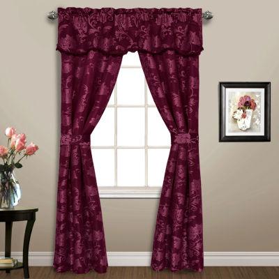 United Curtain Co. Carrington 5-pc. Rod-Pocket Curtain Set