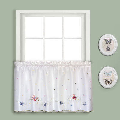 United Curtain Co. Butterfly Rod-Pocket Window Tiers
