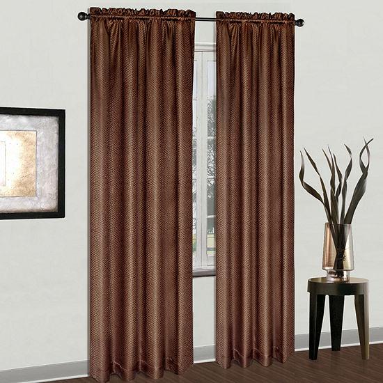 United Curtain Co. Cyndee Rod-Pocket Curtain Panel