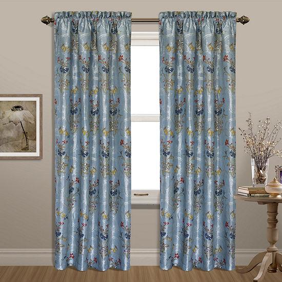 United Curtain Co. Jewel Rod-Pocket Curtain Panel