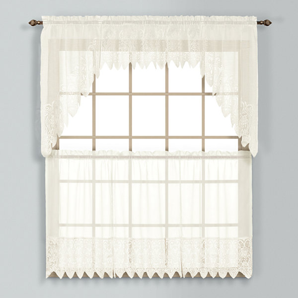 United Curtain Co Valerie Rod-Pocket Window Tiers