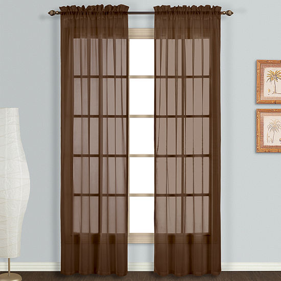 United Curtain Co Monte Carlo Rod Pocket 2 Pack Curtain