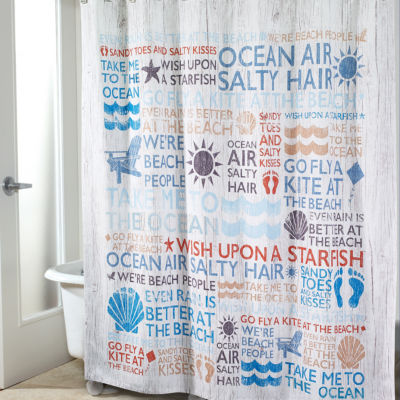 Avanti® Beach Words Shower Curtain
