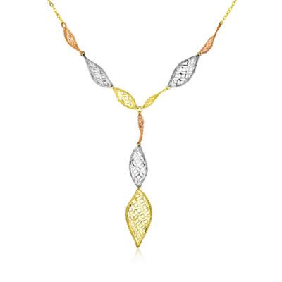 Womens 10K Y Necklace
