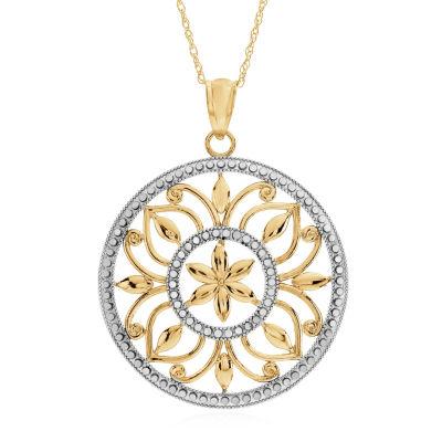 Womens 10K Gold Pendant Necklace