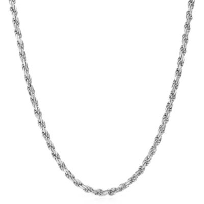 Made In Italy Sterling Silver 19 Inch Chain Necklace