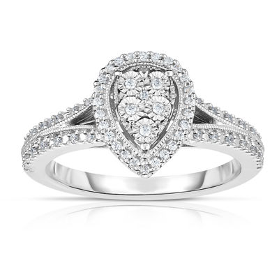 TruMiracle® 1/4 CT. T.W. Genuine White Diamond Sterling Silver Cocktail Ring