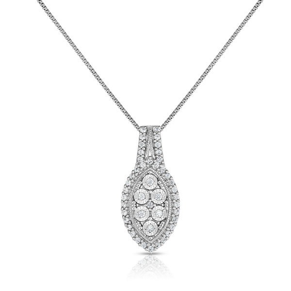TruMiracle® 1/4 CT. T.W. White Diamond Sterling Silver Pendant Necklace
