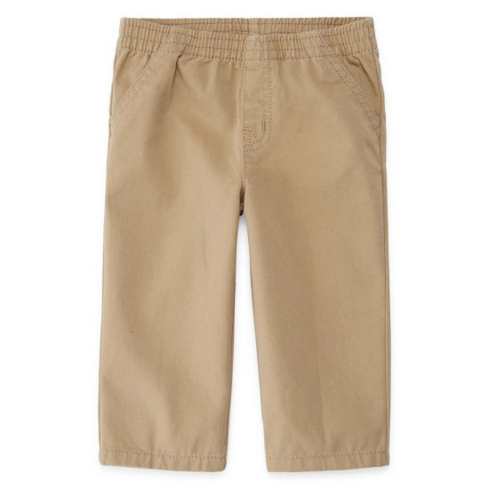 Okie Dokie Khaki Twill Pull-On Pants - Baby Boy NB-24M