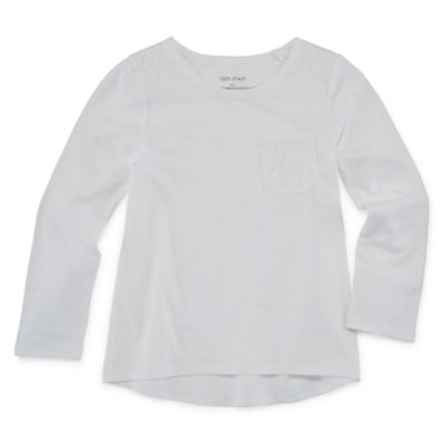 Okie Dokie Long Sleeve T-Shirt-Toddler Girls