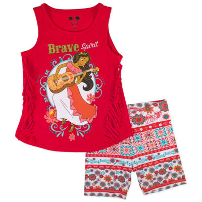 Disney by Okie Dokie 2-pc. Elena of Avalor Short Set Girls