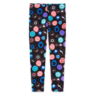 Okie Dokie Floral Knit Leggings - Preschool Girls