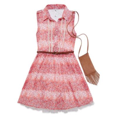 Knitworks Chiffon Shirtdress - Girls' 7-16