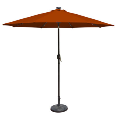 Mirage Fiesta 9-Ft Market Solar Led Auto-Tilt Patio Umbrella