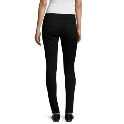 Arizona Slit Knee Jeggings-Juniors