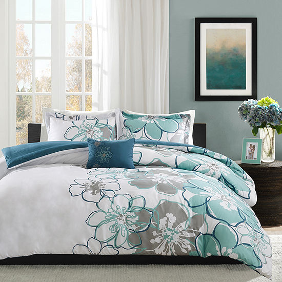 Mi Zone Skylar Floral Duvet Cover Set