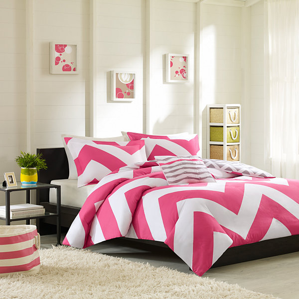 Mi Zone Virgo Chevron Duvet Cover Set