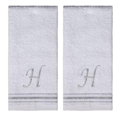 Saturday Knight 2-Pack H Monogram Hand Towel