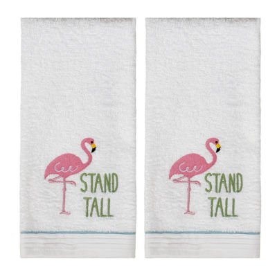 Saturday Knight 2-Pack Flamingo Hand Towel