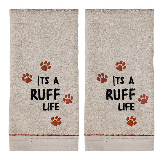 Saturday Knight 2-Pack Ruff Life Hand Towel