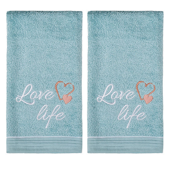 Saturday Knight 2-Pack Love Life Hand Towel