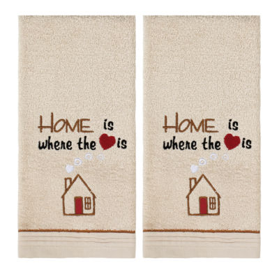 Saturday Knight 2-Pack Home Is Where Heart Is Hand Towel Set
