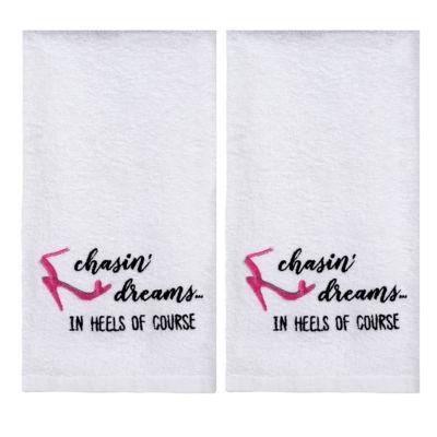 Saturday Knight 2-Pack Chasin Dreams In Heels Hand Towel Set