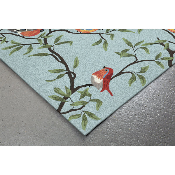 Liora Manne Ravella Birds On Branches Hand Tufted Rectangular Runner
