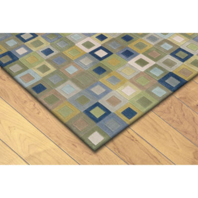 Liora Manne Amalfi Square In Square Hand Tufted Rectangular Rugs