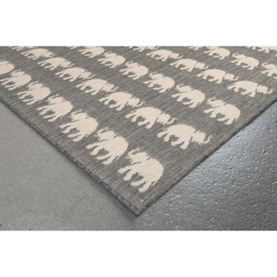 Liora Manne Terrace Elephants Rectangular Rugs