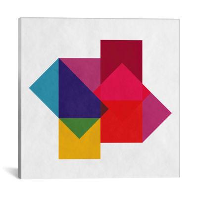 Icanvas Modern Art- Study Of Colors Canvas Art