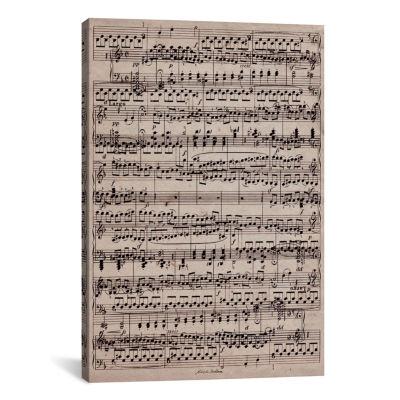 Icanvas Modern Art - Sheet Music Ode To Joy Canvas Art
