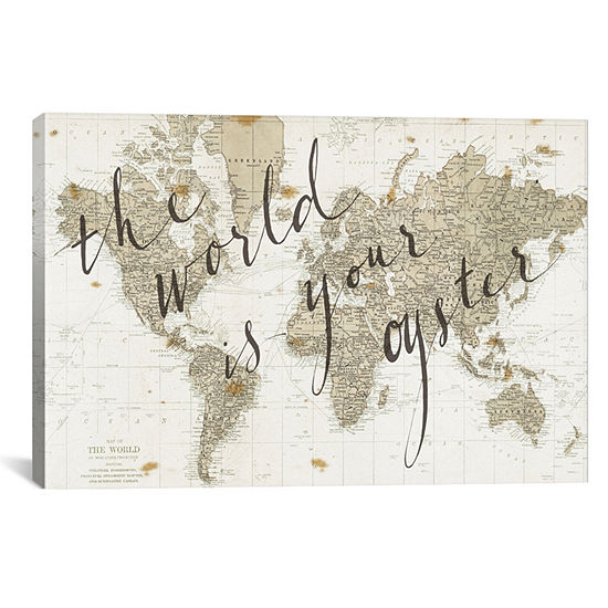 Icanvas The World Is Your Oyster Canvas Art